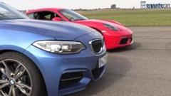 ポルシェ 718 ケイマン vs BMW M240i ゼロヨン加速対決動画