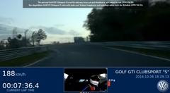 フォルクスワーゲン ゴルフGTI クラブスポーツS ニュルFWD最速 7分47秒19 フルオンボード動画