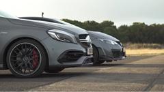 ホンダ シビック タイプR vs メルセデス AMG A45 ドラッグレース対決動画