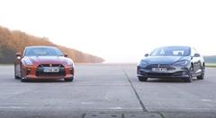 日産 GT-R vs テスラ モデルS P90D 加速対決四番勝負