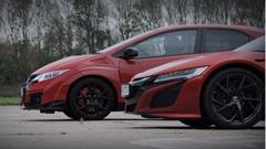 ホンダ 新型NSX vs 新型シビック タイプR 加速対決動画