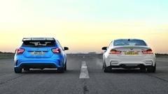 メルセデス AMG A45 vs BMW M4 加速対決動画