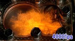 燃焼室丸見えシースルーエンジンをスローモーションにしてみた