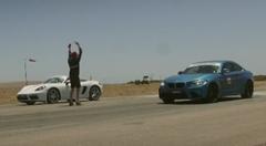 BMW M2 vs ポルシェ 718 ボクスターS 加速対決動画