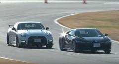 新型ホンダ NSX vs 日産 GT-R NISMO 2017 筑波サーキットガチンコバトル動画