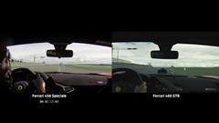 フェラーリ 458 スペチアーレ vs 488 GTB サーキット比較動画