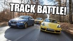 アウディ TTS vs BMW M240i vs ポルシェ 718 ケイマン サーキット比較動画