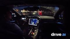 雨の夜の公道自動運転デモ動画