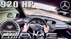 はえー!920馬力のメルセデス E63 AMG アウトバーン 320km/h 動画