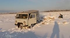 やっと雪から脱出出来た^^ → ドアバン!→結果www