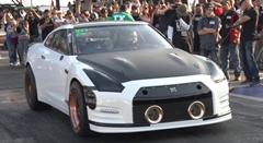 とうとう6秒台キター!世界一速い日産 GT-R ゼロヨン6秒937世界記録動画