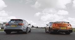 日産 GT-R vs アウディ RS6 加速対決動画