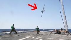 アメリカ海兵隊の無人偵察機 RQ-21 の回収方法
