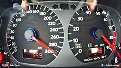 1233馬力のフォルクスワーゲン ゴルフ 0-280km/h超絶加速メーター動画