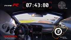 新型ホンダ シビック タイプR ニュルFWD最速 7分43秒80 フルオンボード動画