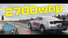 ゼロヨン6秒台で駆け抜けるGT-Rの馬力を計測してみた