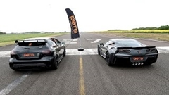 シボレー コルベット グランスポーツ vs AMG  A45 加速対決動画