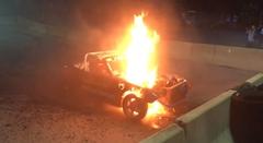 V8を乗せたマツダ ロードスターでバーンアウトするよ→爆発