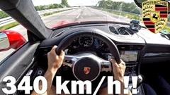 はえー!780馬力 ポルシェ 991 ターボS アウトバーン340km/h動画