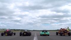 アリエル ノマド vs アトム3.5 vs ケータハム 620S vs BAC MONO 超ライトウェイトスポーツ ゼロヨン加速対決動画