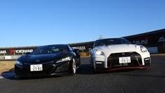 NSX暴れまくり!ホンダ NSX vs 日産 GT-R NISMO 筑波アタック動画