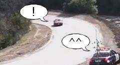 マツダ ロードスター「誰もいないしちょっとドリフトしちゃうよ」 パトカー「待ってました!」
