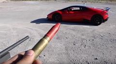 ランボルギーニのわずかな隙間に20mm弾を撃ってみる動画