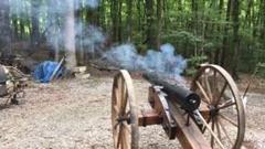 南北戦争時代の大砲をぶっ放すぜ!→クラッシュ
