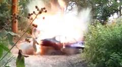 ヒュンダイ クーペを爆破してみた動画