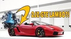 ランボルギーニ ガヤルドにトヨタの2JZを積んでる!っていう動画