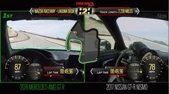 メルセデス AMG GT R vs 日産 GT-R NISMO ラグナセカ タイムアタック対決動画