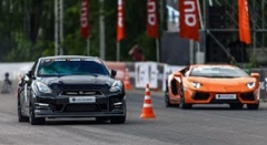 1200馬力 ランボルギーニ アヴェンタドール vs 1200馬力 日産 GT-R 加速対決動画