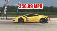 ハーフマイル413.5km/h 出しちゃうランボルギーニ ウラカンの世界記録動画