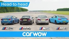 BMW M2 vs M4 vs M5 vs M6 最速Mモデル決定戦