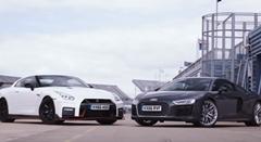 アウディ R8 V10 Plus vs 日産 GT-R NISMO サーキット比較動画