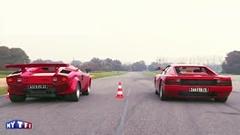 フェラーリ テスタロッサ vs ランボルギーニ カウンタック 加速対決動画