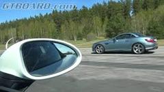 メルセデス SLK55 AMG vs ポルシェ 718 ボクスターS 加速対決動画