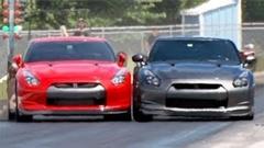 GT-R vs GT-R ドラッグレースアクシデント動画