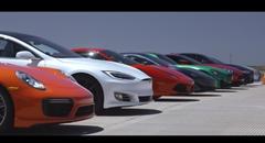LC500 vs ジュリア vs DB11 vs AMG GT R vs 570GT vs 488 vs モデルS vs 911ターボS vs GT-R vs カマロ vs 718 vs コルベット 12台同時ドラッグレース
