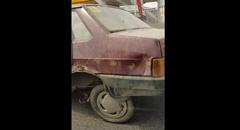 クラッシュした車で公道を走ってクラッシュしちゃう事故ロシア