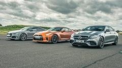 日産 GT-R vs アウディ RS7 vs メルセデス E63 AMG ドラッグレース動画
