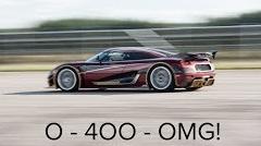 はえー!ケーニグセグ アゲーラ RS 0-400-0km/h 36秒44 世界記録動画