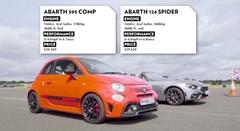 アバルト 595 コンペティツィオーネ vs 124 スパイダー 加速対決動画