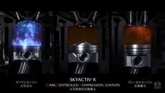 マツダの次世代ガソリンエンジン SKYACTIV-X SPCCI の解説動画