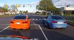 BMW M3 vs M3 シグナルグランプリで勝負だ! → 後ろは覆面でした