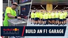 レッドブル F1 のピットガレージの作り方を覗いてみよう