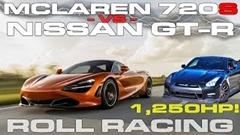 1250馬力 日産 GT-R vs マクラーレン 720S 加速対決動画