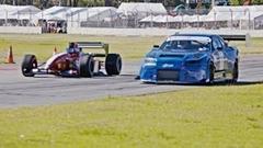 F1 vs 1000馬力 R34 GT-R 加速対決動画