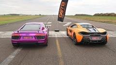 アウディ R8 V10 Plus vs マクラーレン 570S 加速対決動画