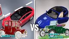 電気自動車とガソリン車の違いがわかる動画